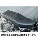 OSCAR W650/W400/W800用 ダブルシート カラー:黒パイピング W650/W400/W800