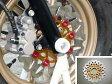 AGRAS フローティングディスクローター9P(φ220) ウエーブタイプ カラー:インナー:レッド ピン:ブラック APE100 Type-D モンキー