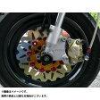 AGRAS フロントディスクローター&サポートセット 2P カラー:インナー:ゴールド ピン:ガンメタリック KSR110