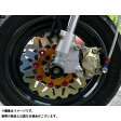 AGRAS フロントディスクローター&サポートセット 2P カラー:インナー:ガンメタリック ピン:ブルー KSR110