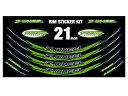 Z-WHEEL リムステッカーキット 17〜19インチ用 カラー:グリーン 汎用