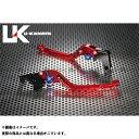 ユーカナヤ GPX400R GPZ400R GPタイプ アルミ削り出しビレットレバー(レバーカラー:レッド) 調整アジャスターカラー:チタン U-KANAYA