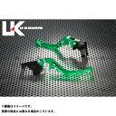 汽機車用品 - ユーカナヤ RF400R レバー GPタイプ アルミ削り出しビレットショートレバー(レバーカラー:グリーン) レッド