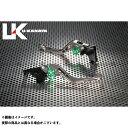 ユーカナヤ イントルーダーLC250 GPタイプ アルミ削り出しビレットショートレバー(レバーカラー:チタン) グリーン
