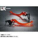 ユーカナヤ CB900ホーネット レバー ツーリングタイプ アルミ削り出しビレットレバー(レバーカラー:オレンジ) 調整アジャスター:レッド