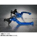 ユーカナヤ ニンジャ900 レバー Rタイプ 可倒式 アルミ削り出しビレットレバー(レバーカラー:ブルー) 調整アジャスター:オレンジ