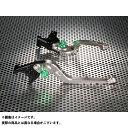 ユーカナヤ ニンジャZX-6R レバー Rタイプ 可倒式 アルミ削り出しビレットレバー(レバーカラー:チタン) 調整アジャスター:グリーン