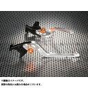 ユーカナヤ バンディット250 レバー Rタイプ 可倒式 アルミ削り出しビレットレバー(レバーカラー:シルバー) 調整アジャスター:オレンジ