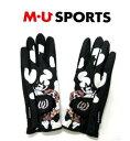 M・U SPORTSレディースゴルフ手袋703V6806(両手)指先なし MUスポーツ