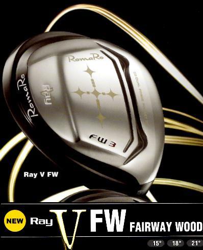 【ポイント10倍!】Romaro★ロマロ Ray V FWグラファイトデザイン社オリジナルカーボンシャフトRJ-TD FW フェアウエイウッド