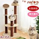 ショッピングキャットタワー キャットタワー 高さ151cm 据え置き 猫タワー 爪研ぎ 全面麻紐 ねこ 猫 ネコ つめとぎ ハンモック 多頭 おしゃれ 猫タワー 麻紐 キャット おもちゃ