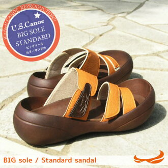 Canoe canoe Sandals USA ビッグソールスタンダード / men's / made in Japan /BF106 / regatta