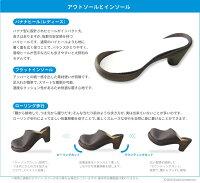 リゲッタカヌーサンダルPUサボ/CJBN5705/CJBN5711/Canoe/RegettaCanoe/バナナヒールカヌーサンダル/レディース/日本製/正規取扱店