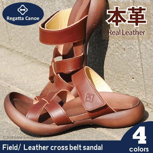 リゲッタ カヌー/メンズ/サンダル/本革 レザークロスベルトサンダル/CJFD5306/CJFD5315/日本製/歩きやすい/リアルレザー/コンフォートサンダル