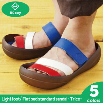Canoe Sandals ライトソール tricolour flat-bed Light CANOE Unisex (men and women) made in Japan /CLT500TR/CLT501/CLT50 Sabot shoes shoe regatta