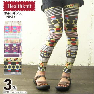 17. HealthKnit health knit nostalgic geometry pattern leggings S/S light cloth / OUTDOOR / Lady's