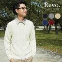 《セール sale》 [Revo.]クルーネックケーブルニット セーター Uネック ケーブル編み レボ