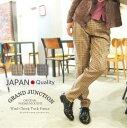 《クーポンで300円OFF》[GrandJunction]ウールチェックタックパンツ メンズ ハウンドトゥース 千鳥格子 アイビー 日本製