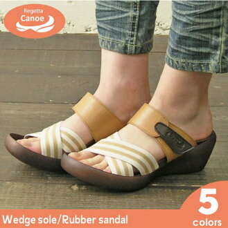 Canoe canoe rubber wedge sole sandal NEW / women's / made in Japan /WH112 / regatta