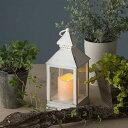 RoomClip商品情報 - 電池式ランタンライトS LGB-LT02SW アンティークホワイト【タカショー ガーデンライト 電池】【園芸専門店 ガーデニングの森】