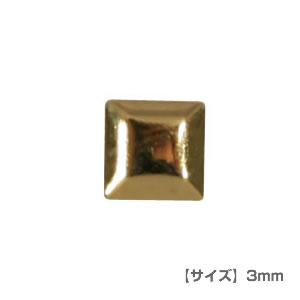 Pieadra (ピアドラ) ネイルパーツ スタッズ メタルスクエア 3mm ゴールド 【ネコポス対応】