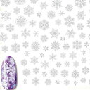 Sha-Nail More (写ネイルMORE/写ネイルモア) ネイルシール Snowflakes/スノーフレイクス (White/ホワイト/白) 【ファンタジ...