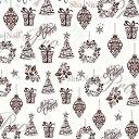 Sha-Nail More (写ネイルMORE/写ネイルモア) ネイルシール Christmas Icons/クリスマスアイコン (Darkbrown/ダークブ...