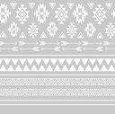 Amaily アメイリー ネイルシール NO.5-14 ネイティブ柄 白 【ネコポス対応】 ネイル用品の専門店 ネイル シール プロ用にも