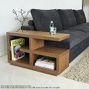 サイドテーブル 北欧 木製ウォールナット ブラック 黒 モダン国産 完成品 / GS-サイドテーブル
