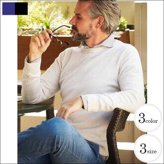 [樂天超級銷售] G-階段 (先生) 100%羊絨針織圓領毛衣、 黑色 / 灰色 / 藍色襯衫男式毛衣圓領針織羊絨 100 %250759 532P17Sep16