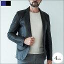[WEB限定SALE]スペイン製シープレザー羊革テーラードジャケット 251280 G-stageジーステージ 本革 レザージャケット メンズレザー 532P1...
