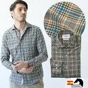 日本製 スペイン生地 メンズシャツ タータンチェック モール セミワイド 300671 300671 GALLIPOLI camiceria(ガリポリカミチェリア)