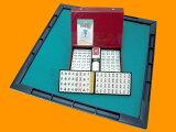 【】JUNKMAT/ジャンクマット+実用牌さんご牌(専用ケース付)セット☆超人気お手頃麻雀マットと標準牌(かばん有り)がセットになりました。しかもで超お得です!!手打ち用マージャン