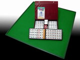 现在设置一个方便的橡胶最优秀的日本麻将牌套垫制成的瓷砖☆吨母亲海 麻将麻将垫的手工顶级日本制造质量工作。是的!麻将很方便自制[【国内どこでも】日本製手打ち用最高級麻雀マット トンシー+実用麻雀牌 さんご牌セ
