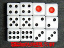 【ポスト投函】サイコロ 16mm×12個 白地 赤目 6面ダイス P才16ミリ 麻雀用品【RCP】