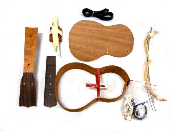 ラッピング無料HOSCOソプラノウクレレ組立キットUK-KIT-5オール単板仕様楽器組み立てキットホ