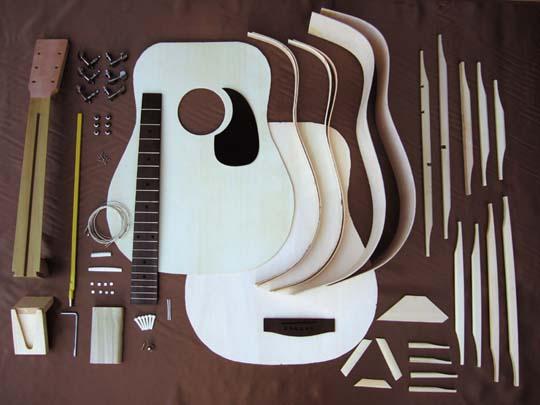 ラッピング無料HOSCOアコースティックギター組立キットGR-KIT-D2ドレッドノートタイプマホガ