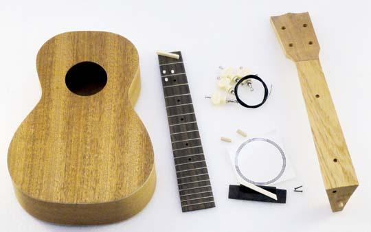 ラッピング無料HOSCOコンサートウクレレ組立キットCK-KIT-20マホガニー合板仕様楽器組み立て