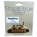TonePros ブリッジ T3BP-G ゴールド TonePros Standard Tuneomatic (small posts, notched saddles)【smtb-KD】【RCP】