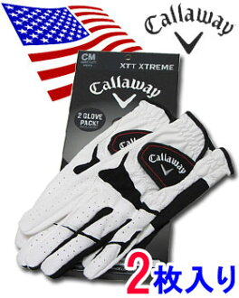 US non-stop flights Callaway XTT XTREME (extreme) Golf Gloves ◆ disc 2 ◆: synthetic leather > fs3gm