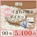 酵母×麹菌うまれの酵素ダイエット 90包(30包×3袋セット...