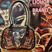 【LIQUOR BRAND】ハンドバッグ【ロックンロールエキゾチックレディー】【豹柄・アニマル・入れ墨・タトゥー・大蛇・スカル・トーテンポール・ローズ・薔薇】バック・BAG・バッグ・鞄・カバン・かばん【ロックファッション・パンク・タトゥー柄・ロカビリー・ゴスロリ】