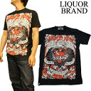 (リキュールブランド)【LIQUOR BRAND】メンズTシャツ イーグル・ハーツ 【メンズ ロックンロール パンク ロック ロカビリー 50's 60's オールディーズ タトゥー】【楽ギフ_包装】