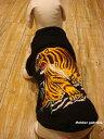 ≪犬用刺繍Tシャツ≫ 3S(SSS/XXS)【虎】和柄・犬 服・犬 洋服【龍虎シリーズ】