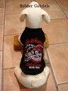 ≪犬用刺繍Tシャツ≫ 3S(SSS/XXS)【スカル・ライダー】犬 服・犬 洋服・バイク・チョッパー