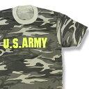 ショッピングゲーム 【M】【L】【XL】【XXL】迷彩Tシャツ U.S.ARMY カーキ・グレー×蛍光イエロー【半袖】Tシャツ 軍物 アメリカ陸軍 サバゲー サバイバルゲーム 大きいサイズ