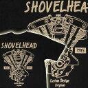 バイカーTシャツ JUNK SHOP ジャンクショップ【ショベルヘッド SHOVEL HEAD】(半袖Tシャツ) 【Vツイン OHVエンジン アメリカンバイク 旧車 メンズ 綿 ハーレー】