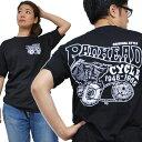 バイカーTシャツ JUNK SHOP ジャンクショップ【パンヘッド PAN HEAD】(半袖Tシャツ) 【Vツイン OHVエンジン アメリカンバイク 旧車 メンズ 綿 ハーレー】