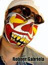 迫力のバイカーマスク【マスクマン・パイピングなし】 /防寒 バイカーズ マスク フェイスマスク バイク フェイスガード バイクウエア ツーリング 自転車にも
