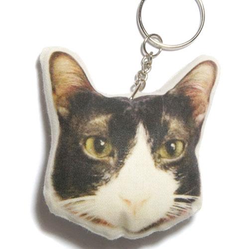 猫 キーホルダー 23 ハチワレ・白黒 【ねこ ネコ プリント キーリング 雑貨 グッズ かわいい 通販】【動物祭り】